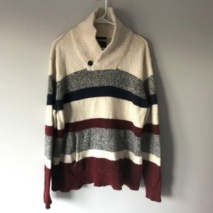 AEO mens seriously soft striped wool sweater L